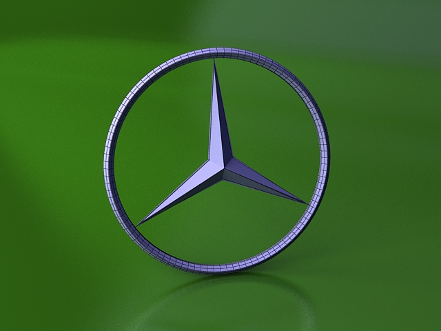 Mercedes Benz Logo 3d Model 3ds Max Files Free Download Modeling