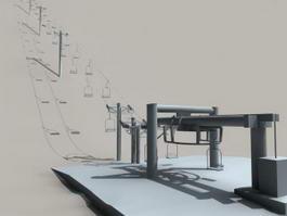 Ski Lift 3d model