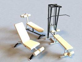 Gym Weight Set 3d model