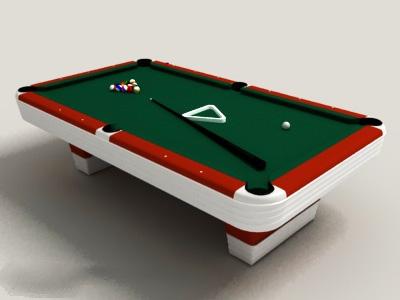 Billiards Pool Table 3d model