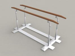 Gymnastics Parallel Bar 3d model
