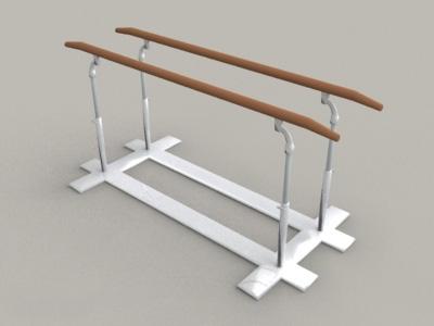 Gymnastics Parallel Bar 3d model