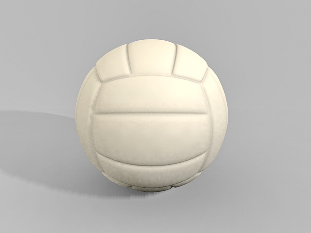 White Volleyball Ball 3d model