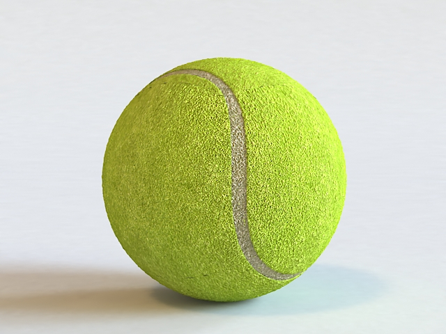 Tennis Ball 3d Model 3ds Max Autodesk Fbx Object Files