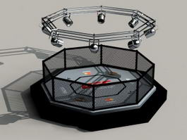 MMA Octagon Cage 3d model
