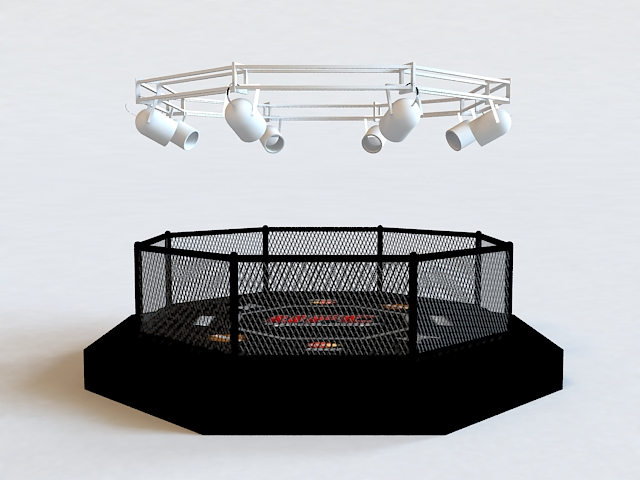 Mma Octagon Cage 3d Model 3ds Max Autodesk Fbx Object