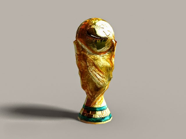 Fifa World Cup Trophy 3d Model 3ds Max Autodesk Fbx Object