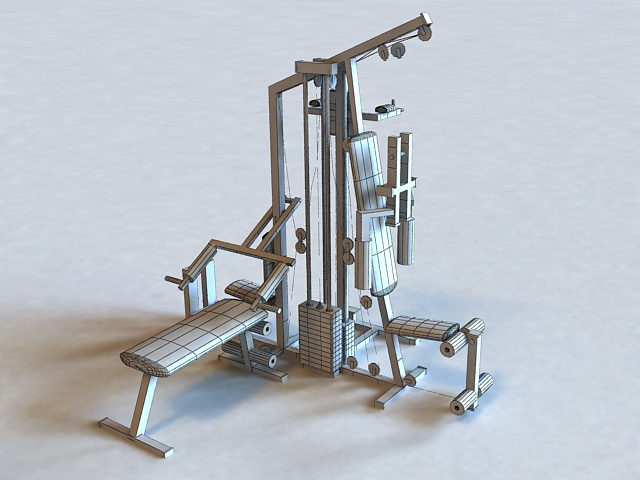 Home gyms exercise equipment d model ds max files free download