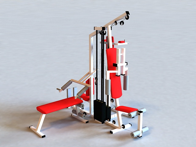 Home Gyms Exercise Equipment 3d model