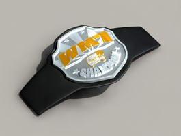 Championship Belt 3d model