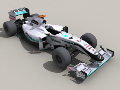 Mercedes F1 Car 3d model