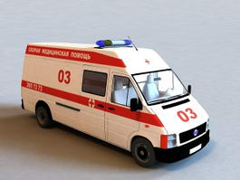 Car Ambulance 3d model