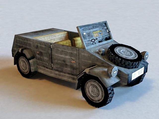 Military Wagon Truck 3d model