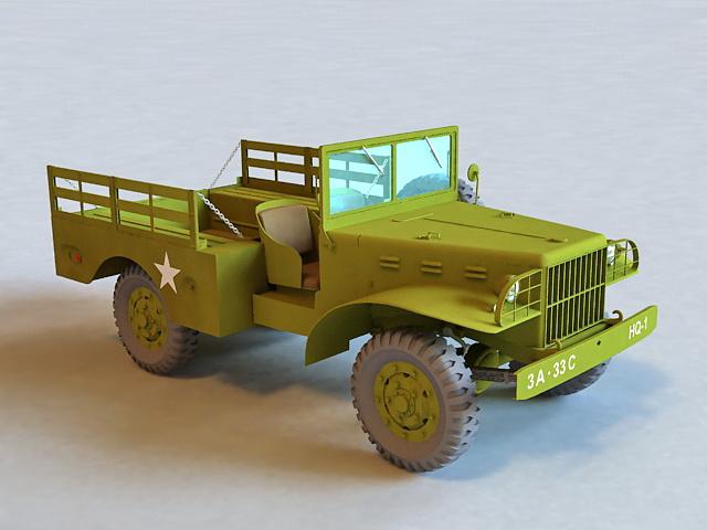 Jeep Military Truck 3d model