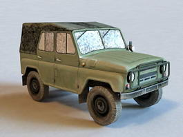 Russian Military UAZ Vehicle 3d model
