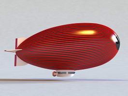Advertising Blimp 3d model