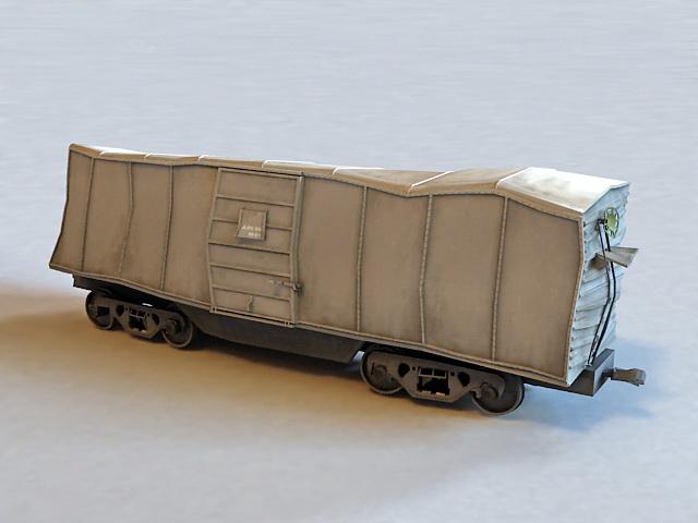 Railroad Train Wreck 3d model