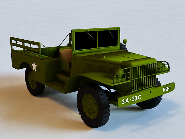 Dodge WC-51 Military Truck 3d model