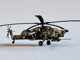 Mi-28N Havoc Attack Helicopter 3d model