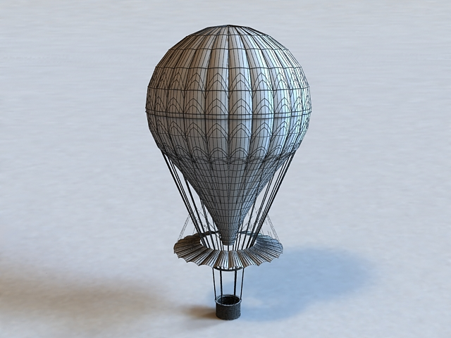 Hot Air Balloon 3d model 3ds Max,Google Sketchup,Autodesk FBX,Object