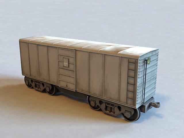 Small Railroad Boxcar 3d model
