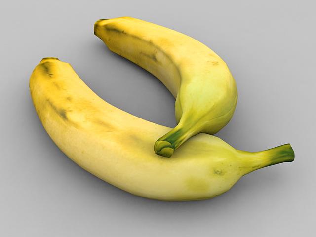 Two Bananas 3d model