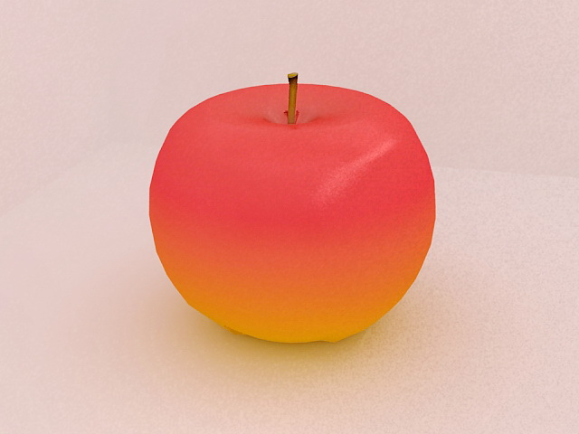 Red Apple Fruit 3d model