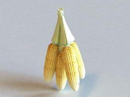 Corn Cobs 3d model