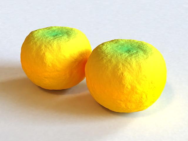 Mandarin Oranges 3d model