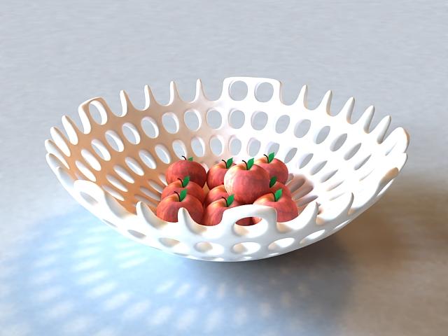 Fruits Basket Decoration 3d model