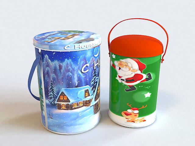 Christmas Gift Cookie Jar 3d model
