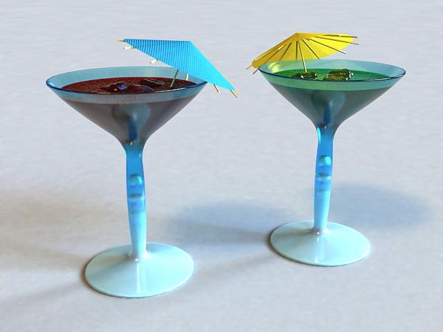 Summer Cocktails 3d model