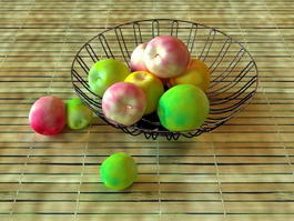 Metal Fruit Basket 3d model