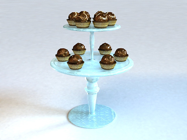 Mini Chocolate Desserts 3d model