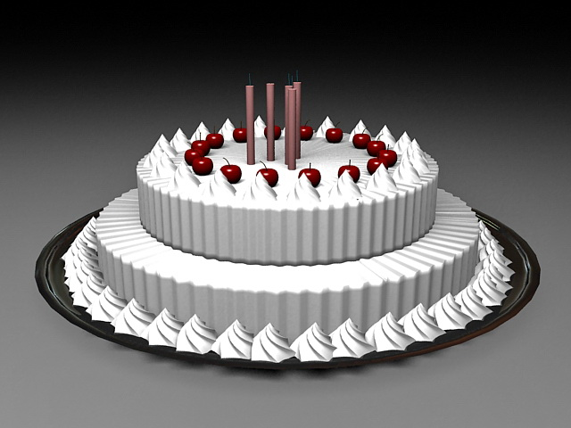 Cake 3d Model Free Download Cadnav