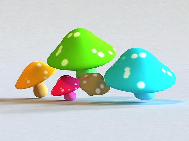 Cartoon Mushroom 3d model