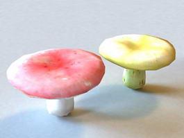 Colorful Mushrooms 3d model