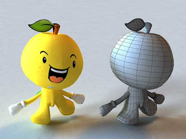 Cartoon Fruit 3d model