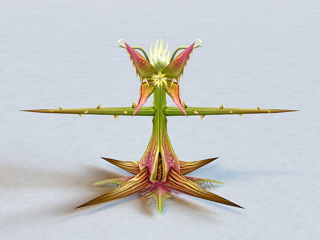 Carnivorous Plant Rigged 3d model