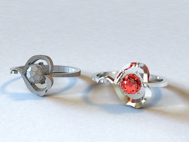 Ruby Ring 3d model