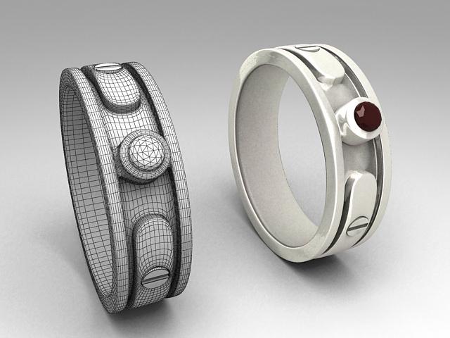 Metal Cuff Bracelet 3d model