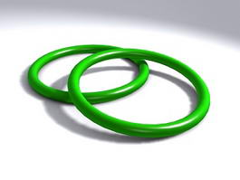 Green Jade Bangle 3d model