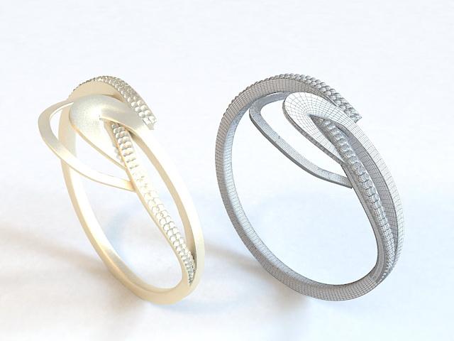 Diamond Anniversary Ring 3d model