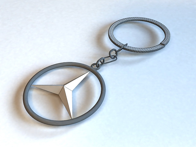 Mercedes key ring 3d model 3ds max files free download for Mercedes benz key chain accessories