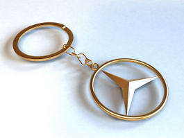 Mercedes Key Ring 3d preview