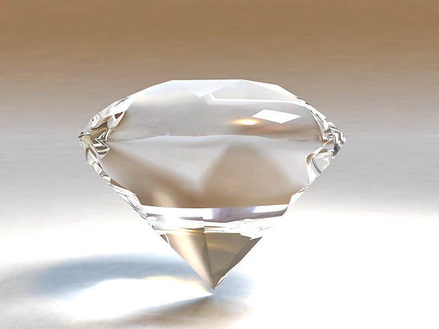 Beautiful Sparkling Diamond 3d model