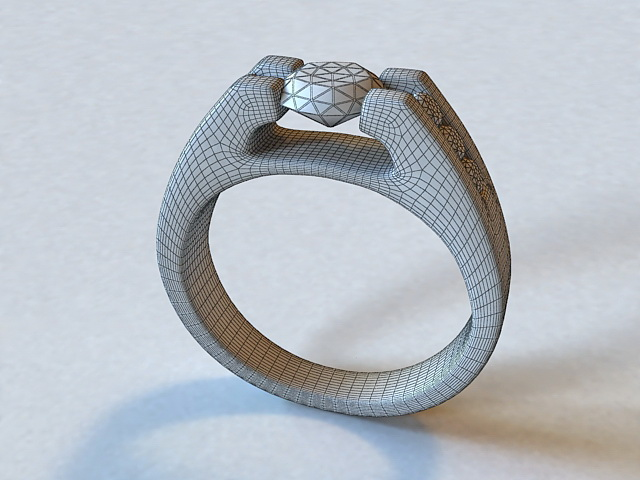 Diamond Ring 3d Model 3ds Max Object Files Free Download