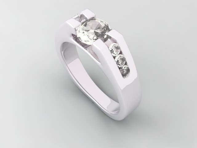 Diamond Ring 3d Model 3ds Max Object Files Free Download Modeling