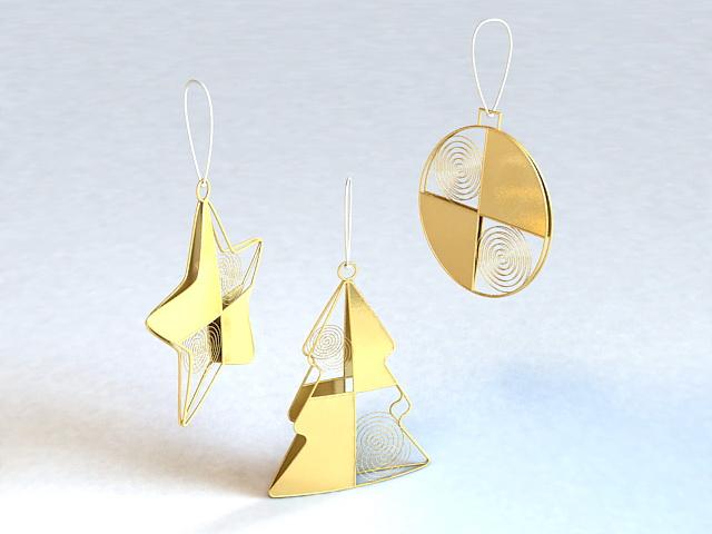 Merry Christmas Pendant 3d model