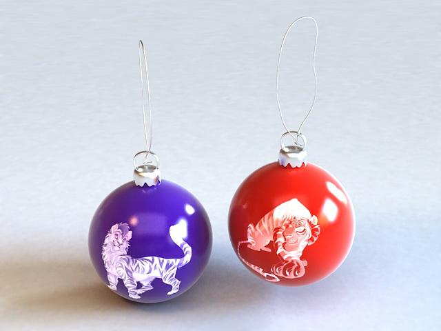 Ball Drop Earrings 3d model